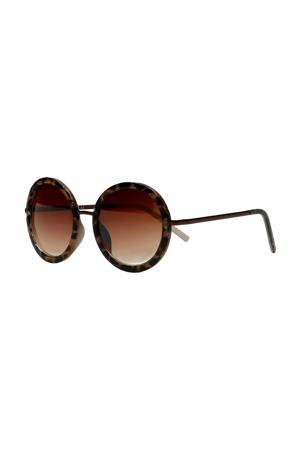ronde zonnebril panterprint
