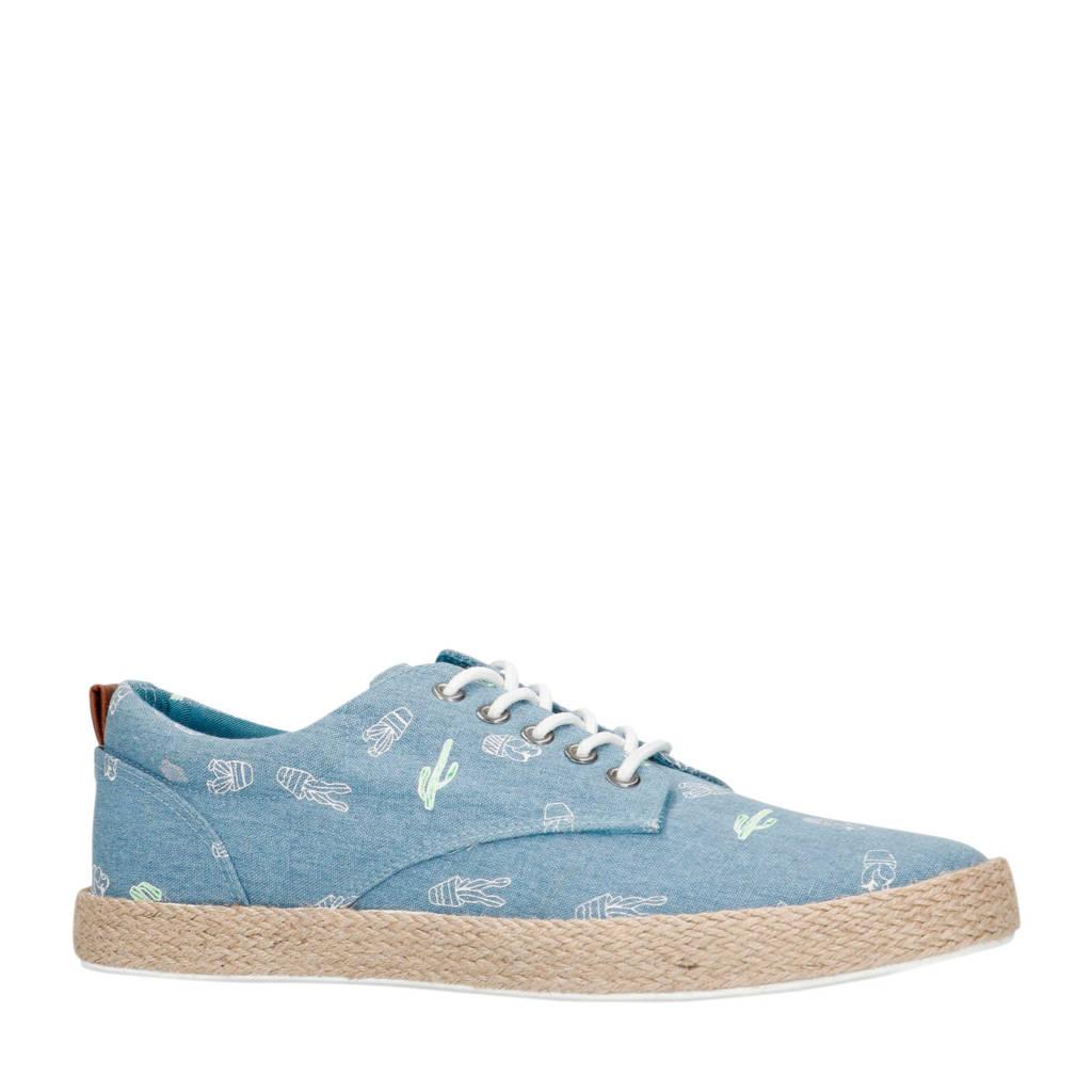 Sacha   veterschoenen blauw/wit, Blauw/wit