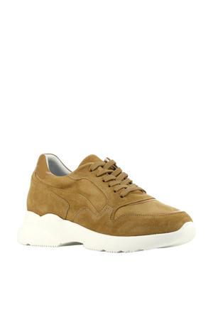 D1904  suède dad sneakers camel