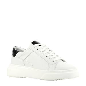 D1917  leren sneakers wit/zwart