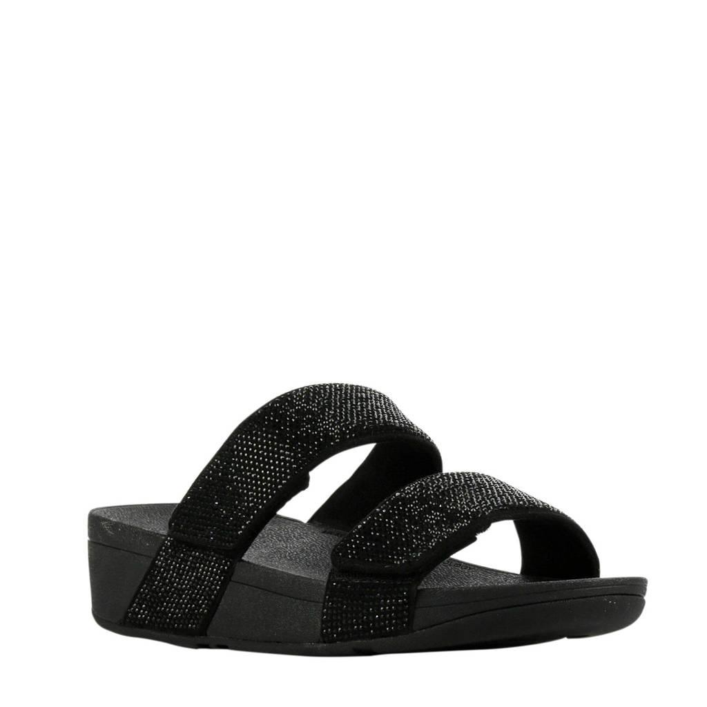 FitFlop TM Mina Slide Crystal  slippers zwart, Zwart