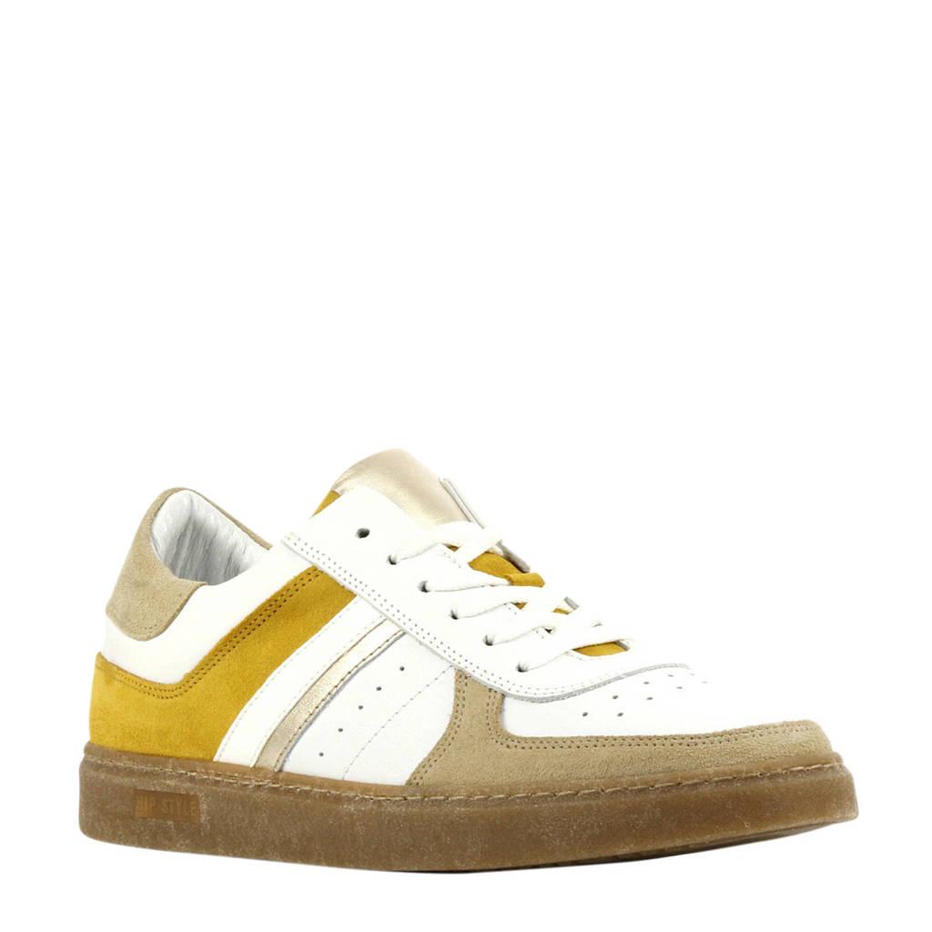 Hip D1933  leren sneakers wit/multi, Wit/multi