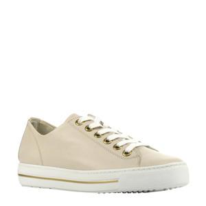 4704  leren sneakers beige