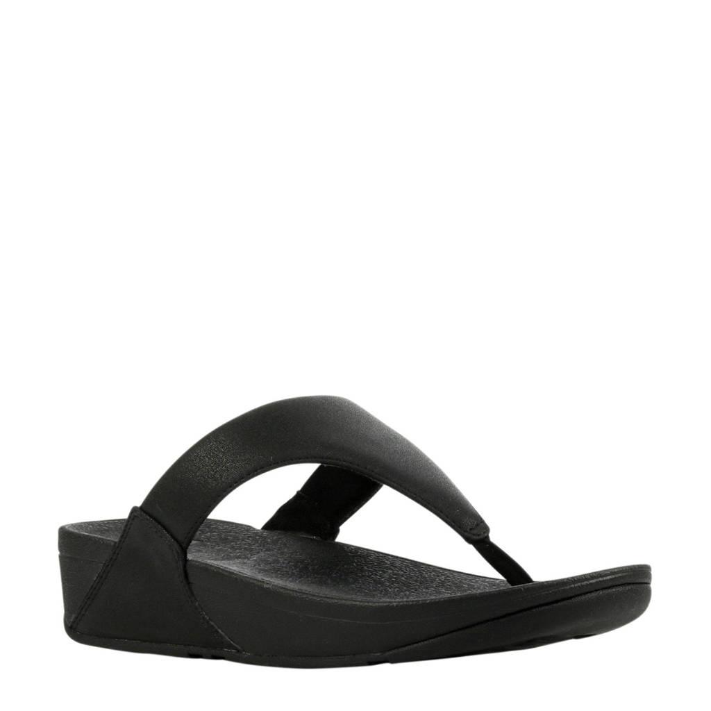 FitFlop TM Lulu Toe Shimmer  teenslippers zwart, Zwart