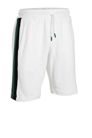 regular fit sweatshort wit/groen
