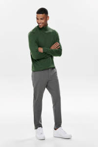 ONLY & SONS slim tapered fit chino Mark grijs, Grijs