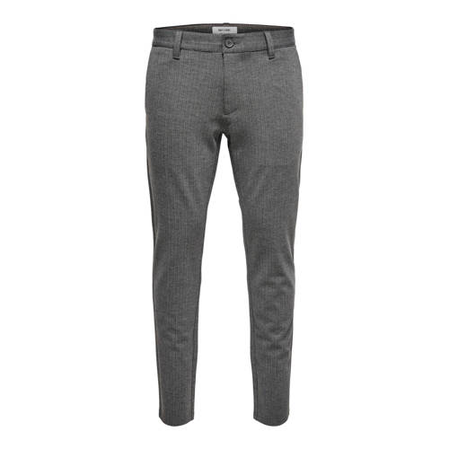 ONLY & SONS slim tapered fit chino Mark grijs