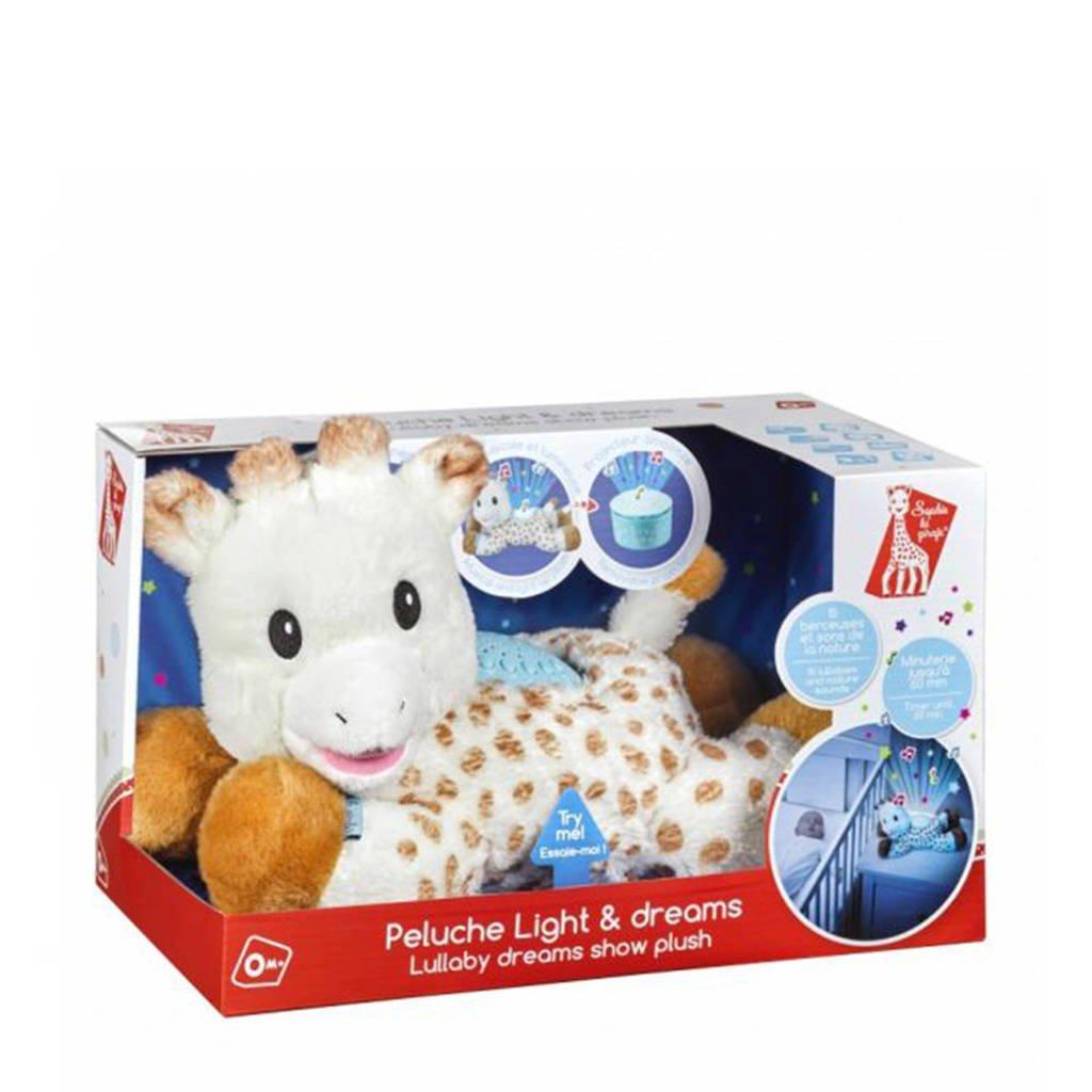Sophie de Giraf Lullaby Light & Dreams interactieve knuffel, Bruin/wit