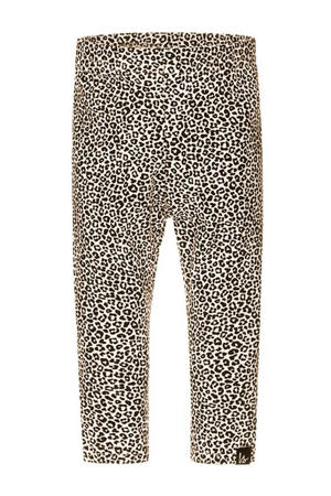 regular fit legging met panterprint beige