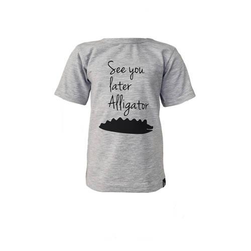 Babystyling T-shirt met printopdruk grijs