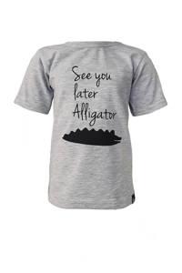 Babystyling T-shirt met printopdruk grijs, Grijs