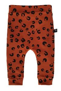 Babystyling broek met all over print roestkleur, Roestkleur