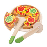 New Classic Toys houten Snijset Pizza Groente