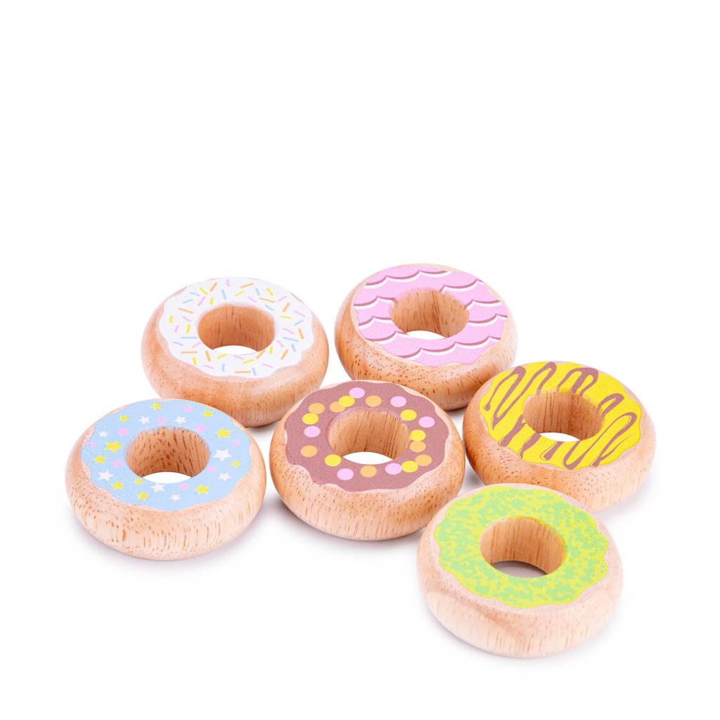 New Classic Toys houten donuts 6 stuks