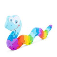 New Classic Toys Alfabet Puzzel Slang houten vormenpuzzel 26 stukjes