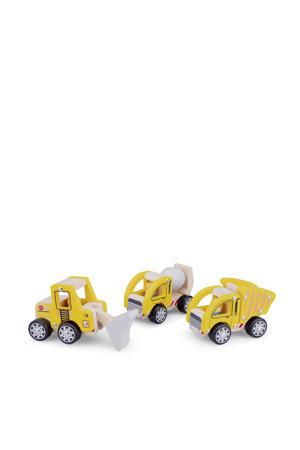 houten constructie voertuigen 3 stuks