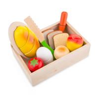 New Classic Toys houten Snijset Ontbijt Box