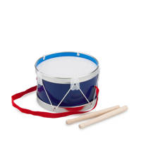 New Classic Toys houten Trommel Blauw Ø 17 cm