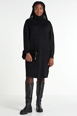 gebreide jurk zwart