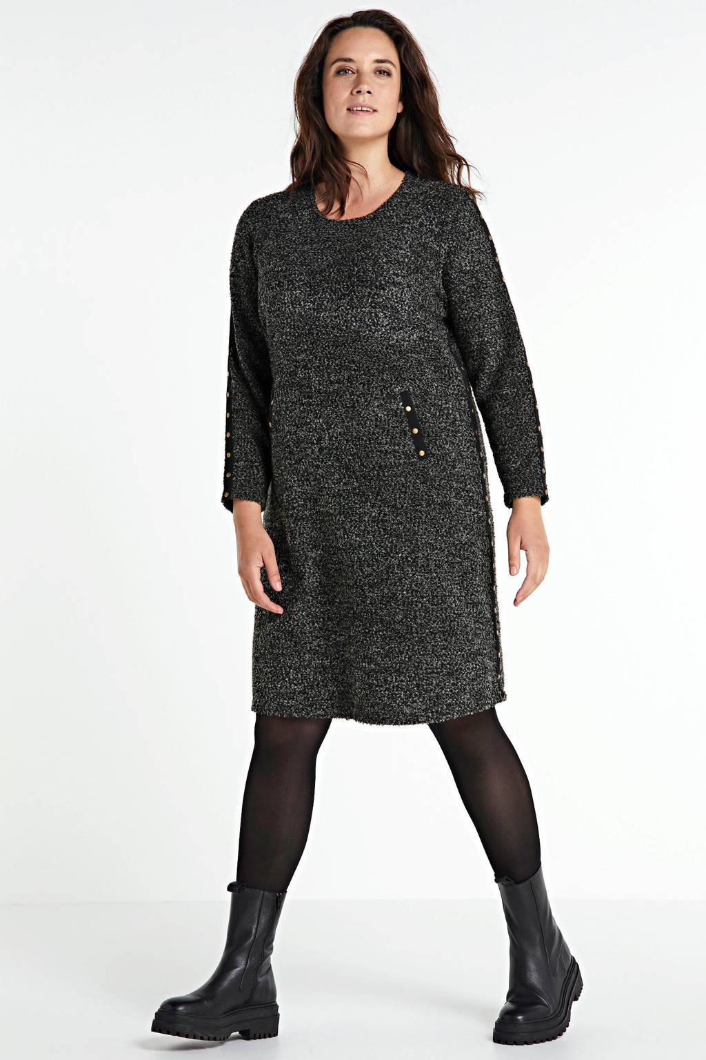 No Secret A-lijn jurk antraciet/zwart, Antraciet/zwart