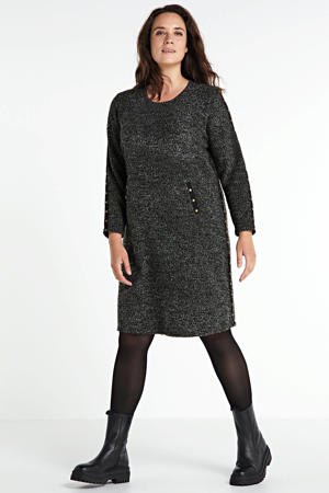 A-lijn jurk antraciet/zwart