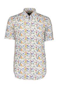 State of Art gebloemd regular fit overhemd oranje/wit, Oranje/wit