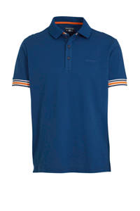 State of Art regular fit polo met contrastbies kobalt/oranje, Kobalt/oranje