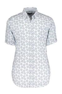 State of Art regular fit overhemd met all over print blauw/geel, Blauw/geel