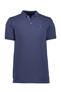 State of Art regular fit polo donkerblauw, Donkerblauw