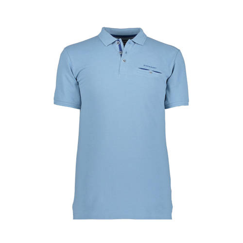 State of Art regular fit polo lichtblauw
