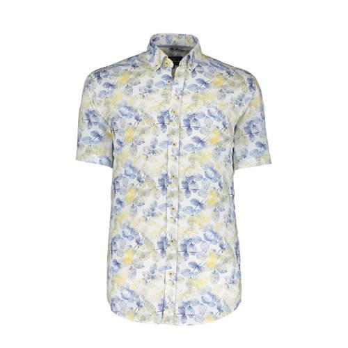 State of Art gebloemd regular fit overhemd geel/bl