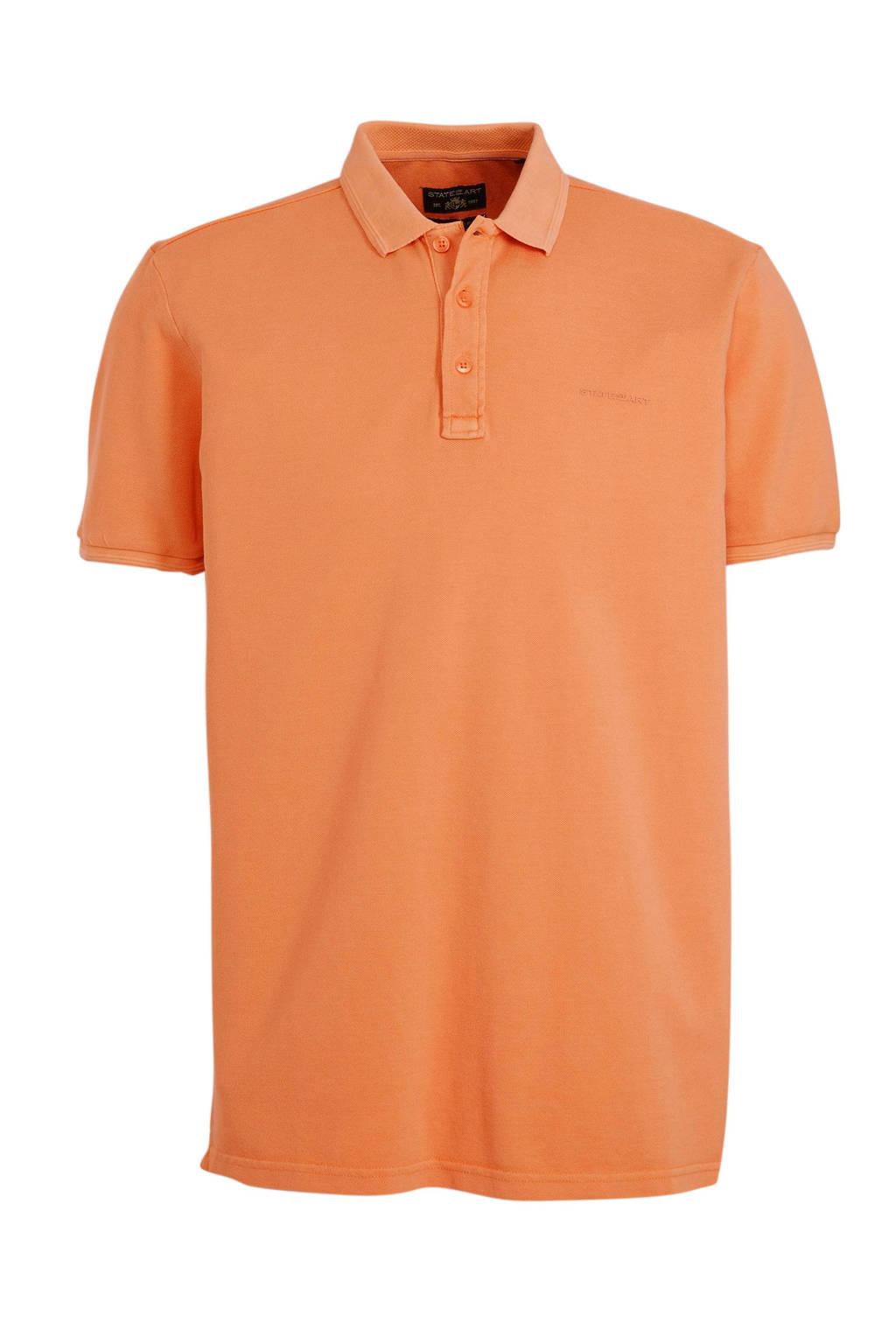 State of Art regular fit polo oranje, Oranje