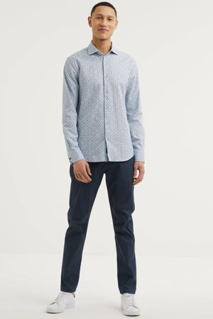 Stuart regular fit chino donkerblauw