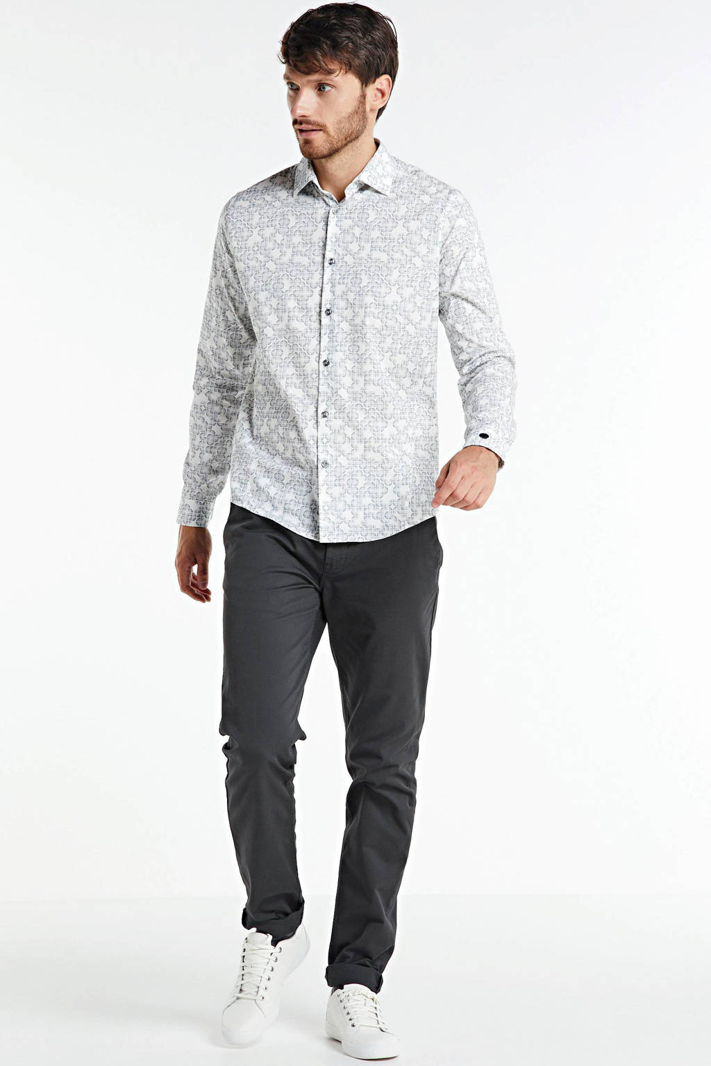 Scotch & Soda Mott slim fit chino antraciet, Antraciet