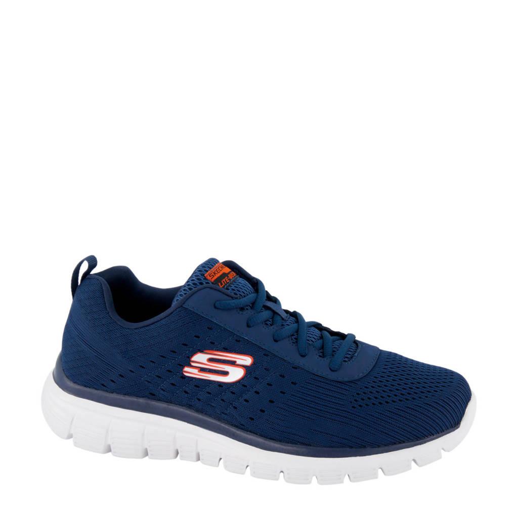 Skechers   sneakers blauw, Blauw/oranje