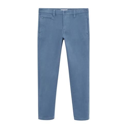 Mango Kids straight fit broek blauw