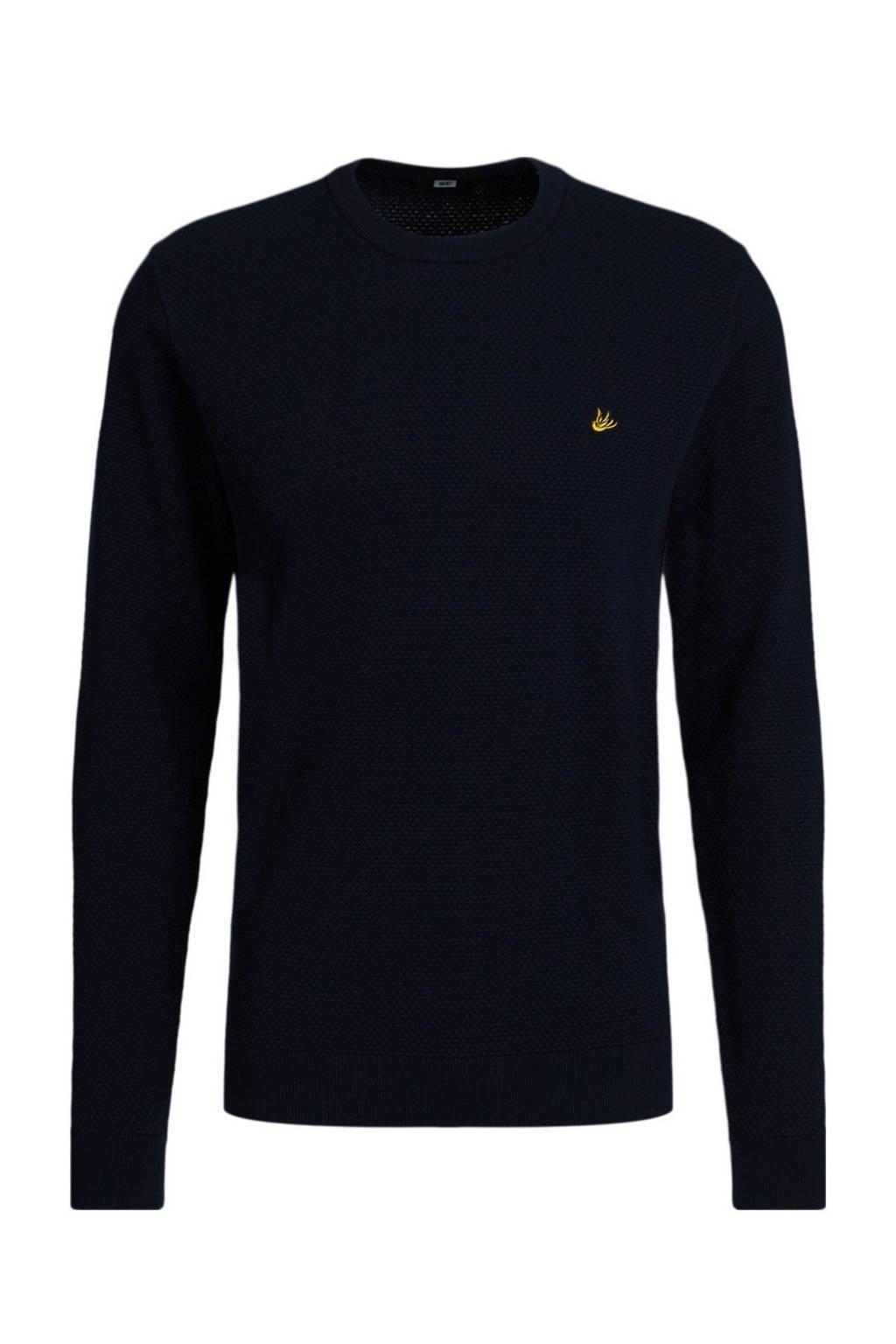 WE Fashion Fundamentals trui donkerblauw, Donkerblauw