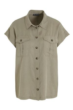 blouse olijfgroen