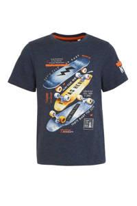 C&A Here & There T-shirt met printopdruk donkerblauw, Donkerblauw