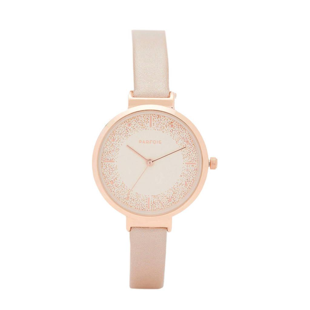 Parfois horloge roségoudkleur, Rosé