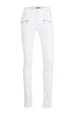 slim fit broek Bess wit