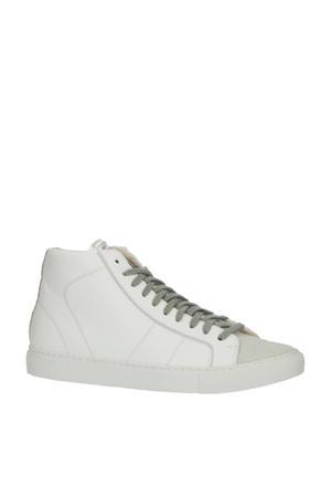 Star 2.0  leren hoge sneakers wit