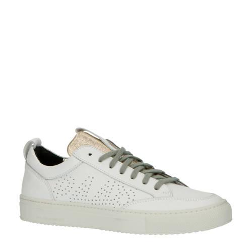 P448 Soho leren sneakers wit/goud