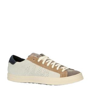 John  suède sneakers grijs/bruin