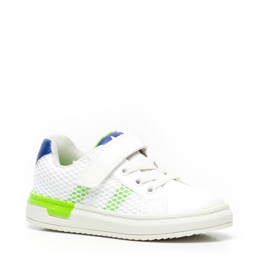 Scapino Blue Box   sneakers wit/groen/blauw, Wit/blauw/groen