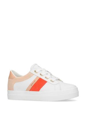 Avona  leren sneakers wit/multi