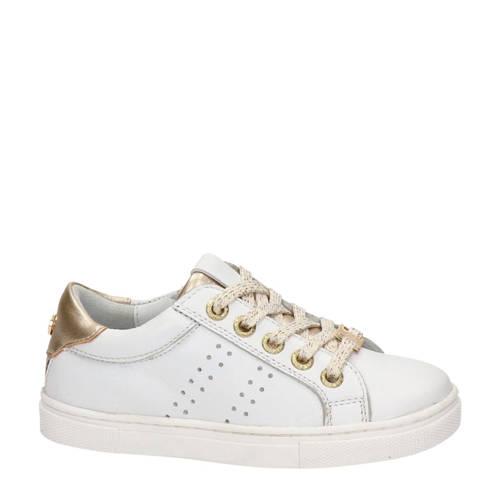 Nelson Kids leren sneakers wit/goud