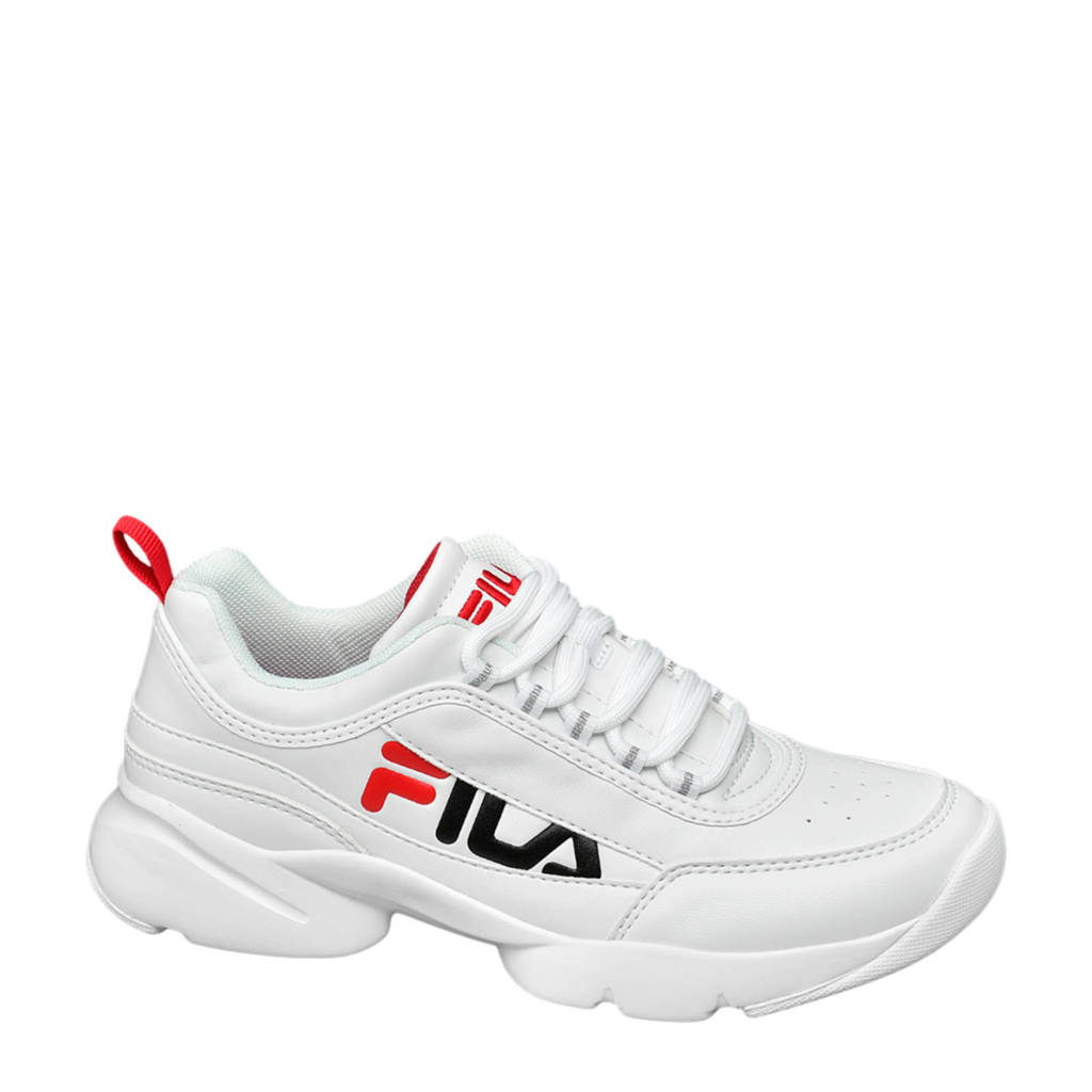 Fila Check  sneakers wit/rood, Wit