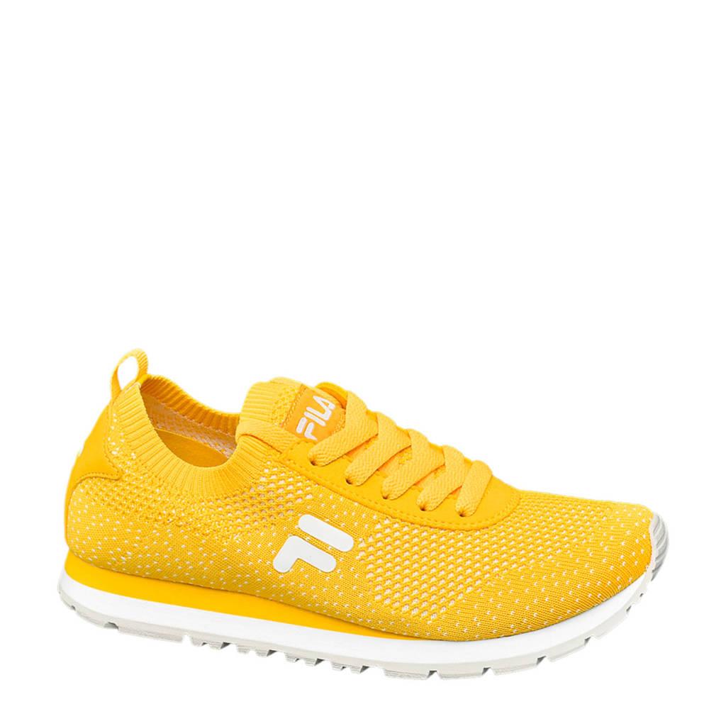 Fila Knitted  sneakers geel, Geel