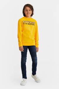 WE Fashion longsleeve met logo geel, Geel